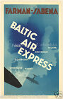 SABENA vintage airline print poster, 4 large sizes available-Airline 217