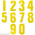 Yellow Reflective Wheelie Bin Numbers Sticker Outdoor Weatherproof 17cm High