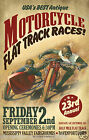 vintage Motorcycle ad print poster, large 4 sizes available-Auto 56