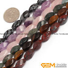 Wholesale Assorted Stones 6x12mm Twist Beads For Jewelry Making Strand 15""