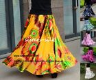 WOMENS LADIES GIRLS SUMMER SILK ELASTIC WAIST FULL CIRCLE MAXI SKIRTS