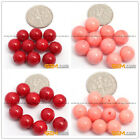 Natural Coral Half Drilling beads Jewelry Making Gemstone  for Earrings 10 Pcs
