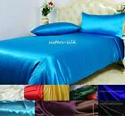 40mm 100% Silk Duvet Cover Flat Extra Deep Fitted Sheet Pillow Case Set All Size