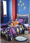 Catherine Lansfield Outer Space Kids Duvet Cover Bed Set With Accessories