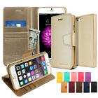 New Card/Bill pocket stand wallet case cover w/Magnet lock For iPhone Series
