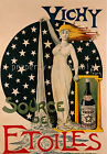 Vichy vintage French  print poster, large 4 sizes available, France 17