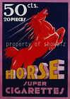 vintage French cigarettes print poster, large 4 sizes available, France 67