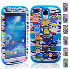 2014 Cartoon Owls Pattern Shockproof Case Cover For Samsung Galaxy S4 i9500