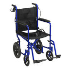 Lightweight Folding Aluminium Transit Transport Wheelchair Travel Chair Plus