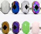 20 Faceted Glass Beads Fit Charm Bracelet 14x9mm M0247