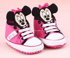 Toddler Baby Girl 3D Minnie Mouse Crib Shoes Sneakers Size 0-6 6-12 12-18 Months