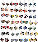 swirl heart earring dangle charm NFL PICK YOUR TEAM $7.49 USD on eBay