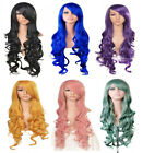 "Fashion Lady 32"" Long Curly Hair Anime Cosplay 9 Colors Hair Full Wigs + Wig Cap"
