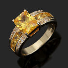 Size8,9,10,11,12 Jewelry AAA Man's Yellow Topaz 10KT Gold Filled Ring Party Gift