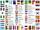 32 International Team Country Flag  Bunting Bar Pub Party Football Theme Event