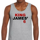 KING JAMES 6 Miami Heat Jersey T-shirt Lebron NBA Champions Men's Tank Top