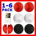 Self-Adhesive Cable Clips Desk Organiser Management Wire Drop Cord Ties Tabs NEW