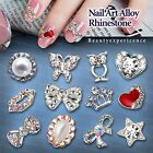 Hot Sale 3D Metal Nail Art Alloy Glitters Rhinestones Tips Nail Decoration DIY