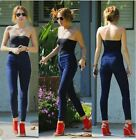 Hot Women Popular Fashion Lady Simple High Waist Skinny Jean Pants