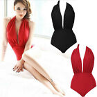 2015 Sexy Womens One-Piece Bikini Scarlet Padded Solid Swimwear Bathing Swimsuit