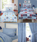 Kids Duvet Quilt Cover Bedding Set Fitted Sheets With Curtains Single Double