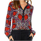 Red & Black Multi Kaleidoscope Print Tunic Blouse / Long Top, New £39 BC @ Heine