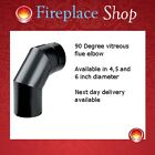 "ELBOW FOR STOVE FLUE PIPE 4"", 5"" & 6 INCH MATT BLACK"