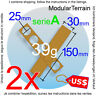 2x MOVEMENT TRAY MDF 5x1 1x5 (A) 25mm ROUND BASE WAR HAMMER GAME USD