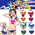 Girl Anime Sailor Moon Underwear Cosplay Lingerie Costume Bikini Set Fancy Dress