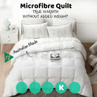 Microfibre Polyester WINTER WEIGHT Quilt Duvet-SINGLE,DOUBLE,QUEEN,SUPER KING
