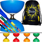 Cyclone Classic Diabolo Set + FIBRE Colour Diabolo Sticks + Diablo String + BAG