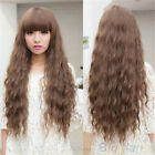 Womens Fashion Classic Long Curly Wavy Hair Full Wigs Cosplay Wig Party 4 Colors