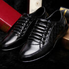 Handsome Men's Real Leather Shoes Round Head Shoes Casual Leather Shoes X250