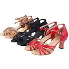 Lady Ballroom Latin Salsa Rumba Samba Jive Strappy Red/Black/Copper Dance Shoes