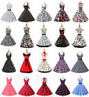 NEWLY VTG 50s ROCKABILLY PINUP FLORAL RETRO EVENING PARTY PROM SWING SHORT DRESS