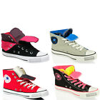 CONVERSE ALL STAR CHUCK TAYLOR LACE DOUBLE UPPER TONGUE CANVAS BOOTS SHOES SIZE