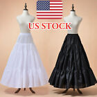 A-Line Wedding Bridal Dress Petticoat Underskirts Crinoline Hoopless White Black