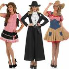 Ladies Sheriff / Cowgirl Fancy Dress Costume PLUS Hat - Womens Wild West Outfit