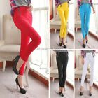Women Stretch Candy Pencil Pants Slim Fit Skinny Jeans Trousers Leggings Bottoms