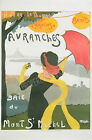 Avranches Vintage rare French ad print poster, large 4 sizes available