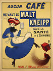 Vintage French coffee ad print poster, large 4 sizes available
