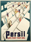 Vintage Persil French ad print poster, large 4 sizes available