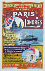 Vintage French travel advertisement print poster, large 4 sizes available