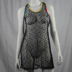 Authentic RASTA Jamaican Mesh Net Sexy Juniors Tank Dress S M L XL Reggae NEW