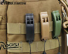 3Color ROGISI Hunting Water Resistant Survival Whistle with Neck Cord Black/OD A