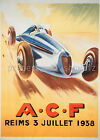Vintage A.C.F. Automotive print poster, large 4 sizes available