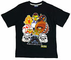 BOYS T-SHIRT TOP ANGRY BIRDS 4 5 6 7 8 9 10 & 11 YEARS BLACK