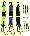 2 piece clip 25mm webbing lanyard set, quick release fastener. torch reel camera