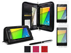 roocase Executive Leather Case + 4-Pack Screen Protectors for Nexus 7 2013 FHD