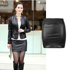 Black Women Look Zip Sexy High Wasit Faux Leather Mini Short Skirts